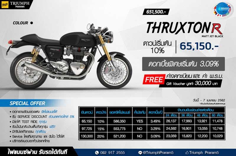 THRUXTON R (MATT COLOUR) : 651,500 บาท